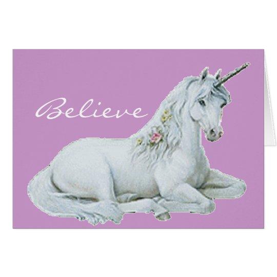 Crea la tarjeta de nota del unicornio