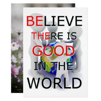 Crea que hay bueno en la tarjeta del mundo