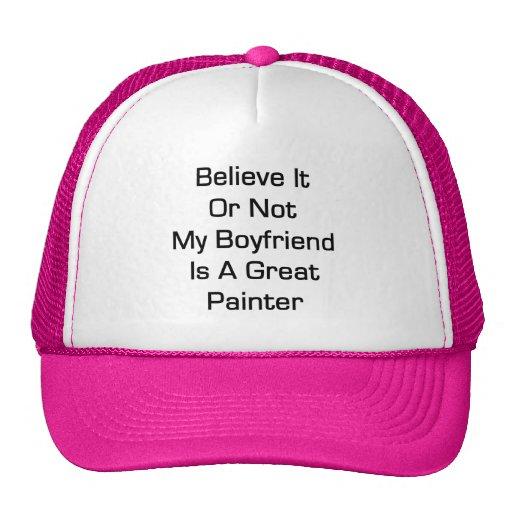 Crea que o no mi novio es gran pintor gorros