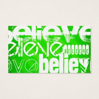 Crea; Rayas verdes de neón Tarjeta De Negocios