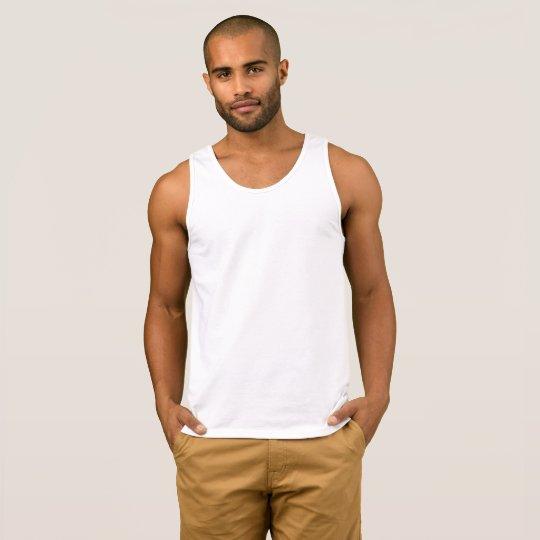 Camiseta sin mangas de algodón para hombre, Blanco