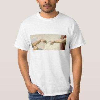 Creación de las manos de Adán - Miguel Ángel Camiseta
