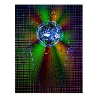 Creaciones en el espectro de color del arco iris 2 postal