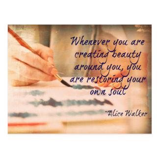 Crear la postal de la belleza