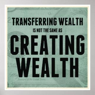 Crear riqueza póster