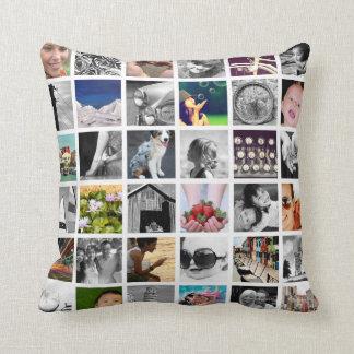 Crear-Su-Propia almohada de tiro del collage de la