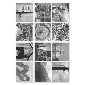 Crear-Su-Propio papel seda del collage de la foto