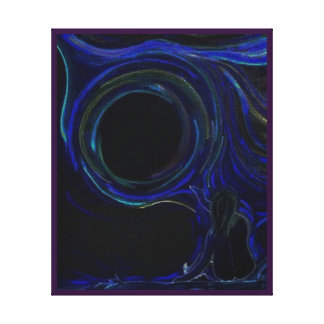 Creatividad de medianoche impresión en lienzo