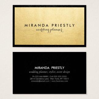Creativo de lujo negro y falso elegante moderno de tarjeta de visita