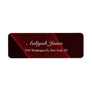 Creativo profesional elegante rojo marrón etiqueta de remite
