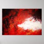 Creativo rojo de la pintura de la impresión abstra poster