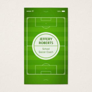 Creativo y único - jugador del coche del fútbol tarjeta de negocios