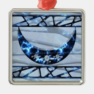 Creciente vertical azul eléctrico ornato
