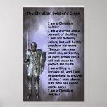 Credo cristiano de los soldados posters