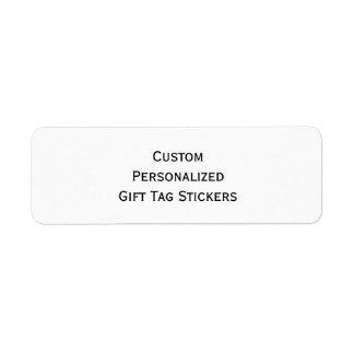 Cree a los pegatinas mates personalizados etiqueta de remite