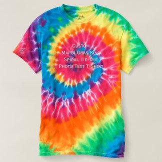 Cree a rey de encargo Spiral Tie-Dye Photo del Camiseta