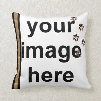 Cree a su propio mascota de encargo de la foto de cojín decorativo