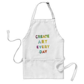 Cree el arte cada día delantal