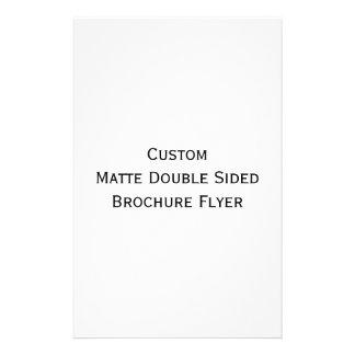 Cree el aviador echado a un lado doble mate de folleto 14 x 21,6 cm