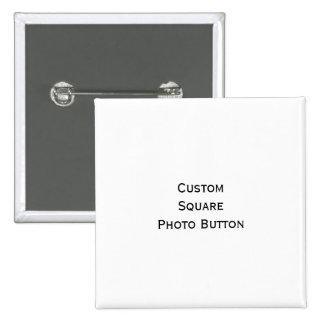 Cree el botón cuadrado de encargo del Pin de la