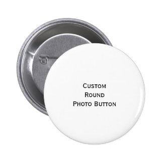 Cree el botón redondo de encargo del Pin de la