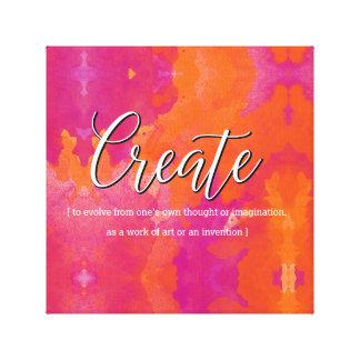 Cree el diseño inspirado lienzo