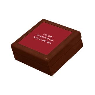 Cree la caja de regalo de encargo de la joyería joyero cuadrado pequeño