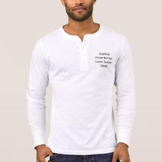 Cree la camisa de manga larga de Henley del botón