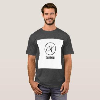 Cree la camiseta oscura de los hombres cómodos del