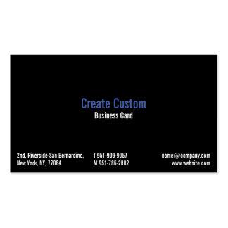 Cree la tarjeta de visita profesional fresca de