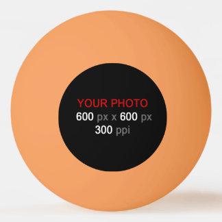 Cree su propia bola de ping-pong anaranjada de