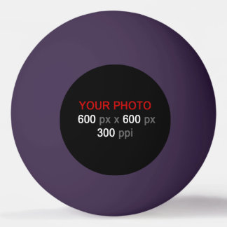 Cree su propia bola de ping-pong púrpura