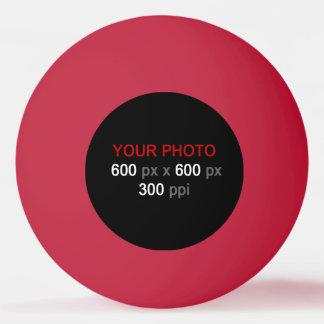 Cree su propia bola de ping-pong roja