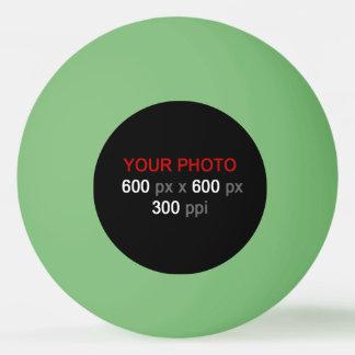 Cree su propia bola de ping-pong verde