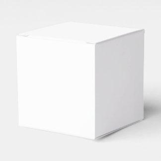 Cree su propia caja clásica del favor 2x2 caja para regalo de boda