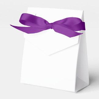 Cree su propia caja púrpura de encargo de la caja para regalos de fiestas