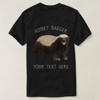 Cree su propia camiseta divertida del tejón de
