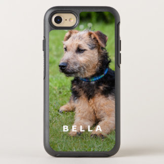 Cree su propia foto del mascota con nombre funda OtterBox symmetry para iPhone 8/7
