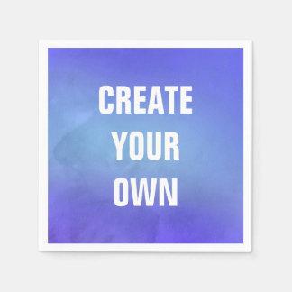 Cree su propia pintura azul de la acuarela servilleta de papel