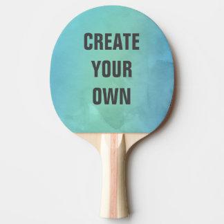 Cree su propia pintura de la acuarela de la pala de ping pong