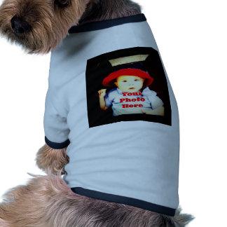 Cree su propia plantilla de los regalos de la foto camisetas mascota