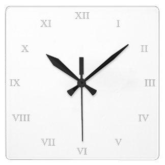 Cree su propia plantilla en blanco de los números reloj cuadrado