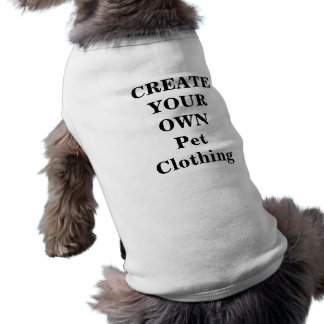 Cree su propia ropa del mascota camiseta sin mangas para perro