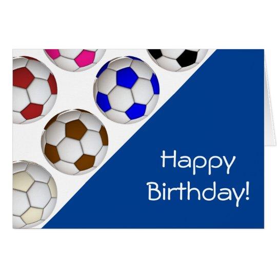 Cree su propia tarjeta de cumpleaños del fútbol