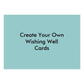 Cree su propio azul que desea tarjetas bien tarjetas de visita grandes