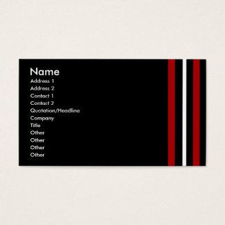 Cree su propio blanco negro rojo de la tarjeta de