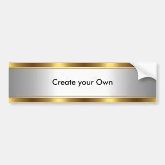 Cree su propio blanco y oro de la pegatina para el