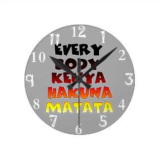 Cree su propio Hakuna Matata Reloj Redondo Mediano