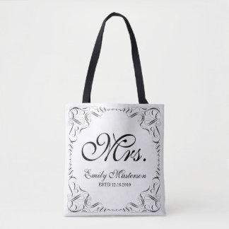 Cree su propio monograma de Sr. señora His Hers Bolso De Tela