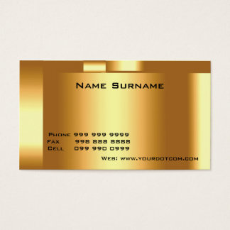 Cree su propio oro de la tarjeta de visita